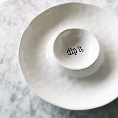 Just Words - Chips + Dip Serving Bowl