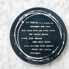 Circle Of Strength Trivet - Navy