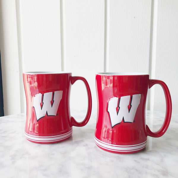 On Wisconsin - 14oz Mug (Set of 2)