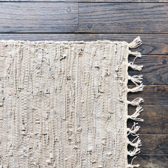 2'x3' Leather Woven Rug - Beige