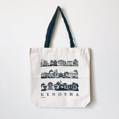 Vintage Hometown - Historic Houses Tote