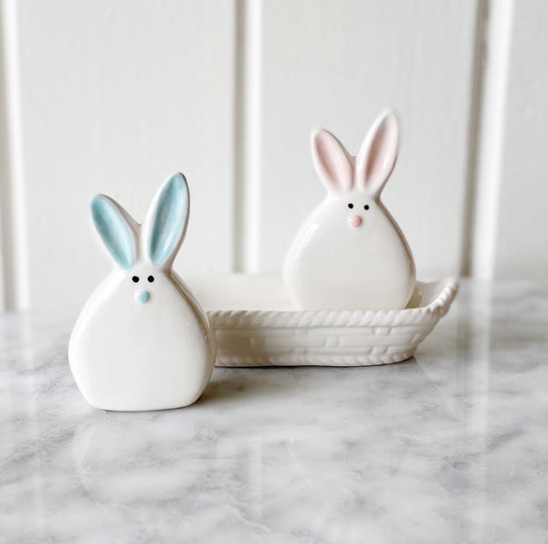 Bunny Big Ears Salt + Pepper Set