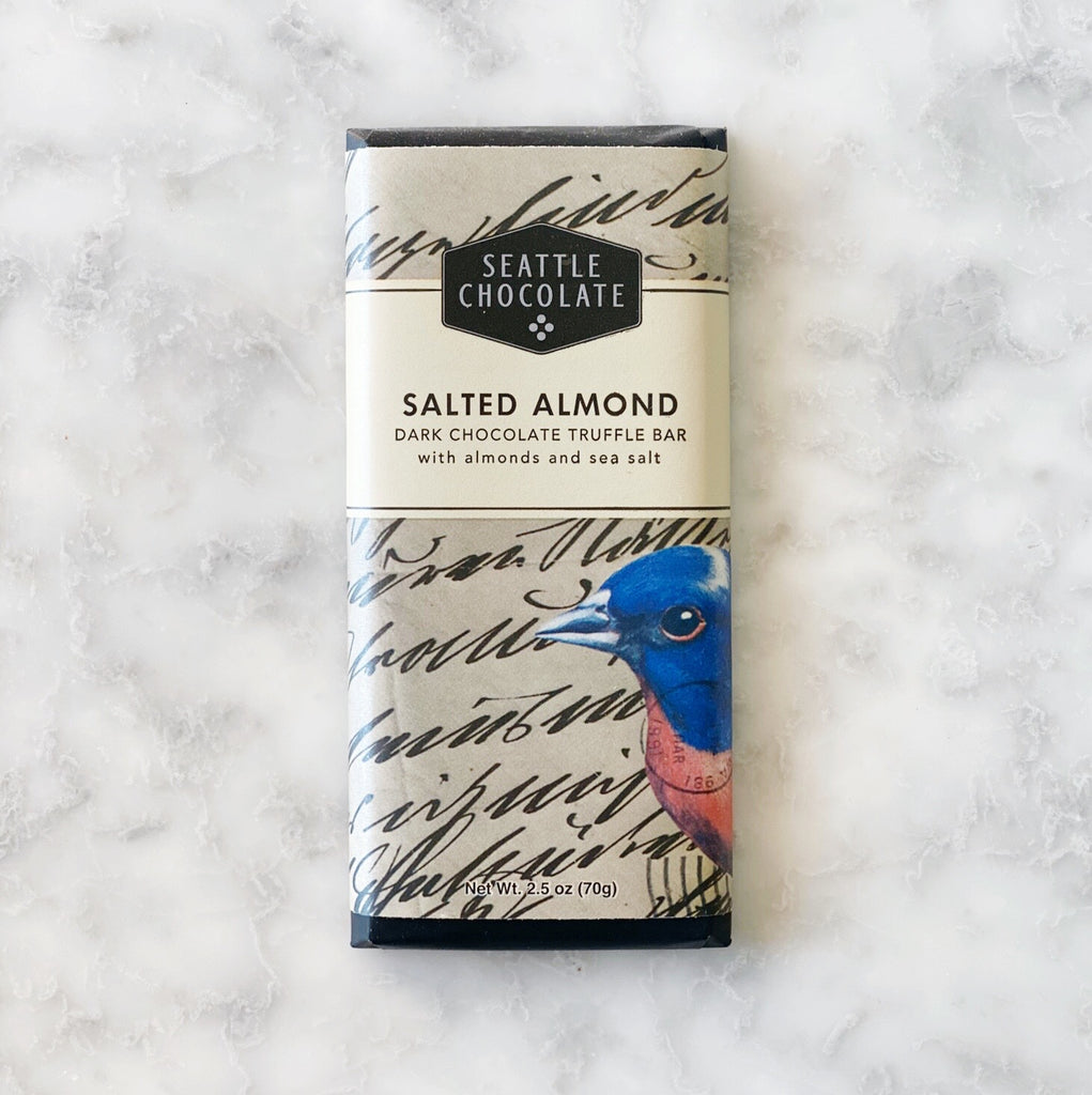 Seattle Chocolate Salted Almond Bar - 2.5oz