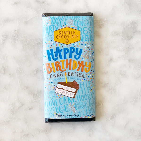 Seattle Chocolate Happy Birthday Bar - 2.5oz