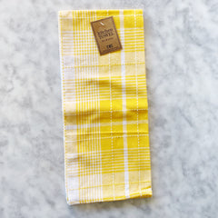 Yellow Plaid Jacquard Dishtowel