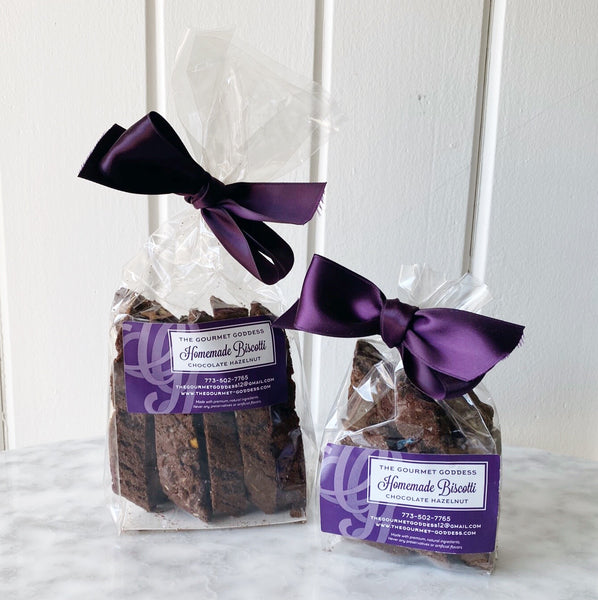 Gourmet Goddess Biscotti - Chocolate Hazelnut