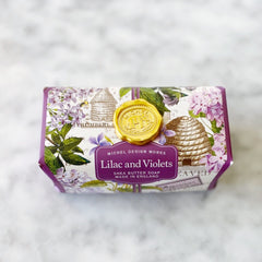 Michel Designs Lilac + Violets Large Bar Soap