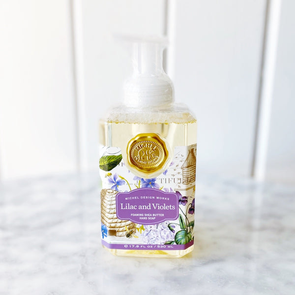 Michel Designs Lilac + Violets Foaming Hand Soap