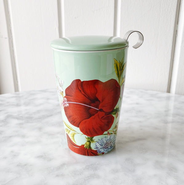 Kati Tea Cup With Metal Infuser - Fleur