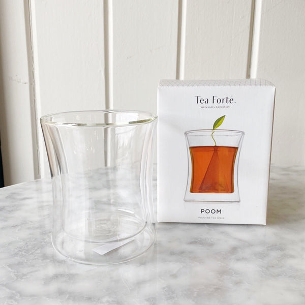 Tea Forte Poom Double Walled Glass Mug