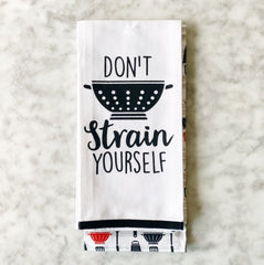 Don't Strain Yourself Hand Towel Set of 2