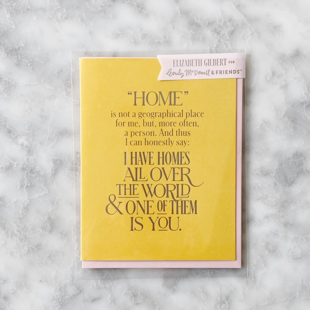 Greeting Card - You Are My Home