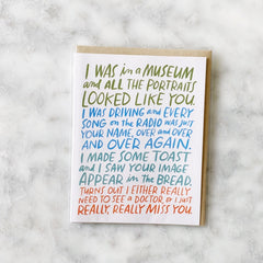 Greeting Card - I Just Really Miss You