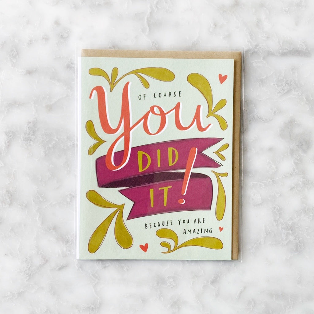 Greeting Card - You Did It!