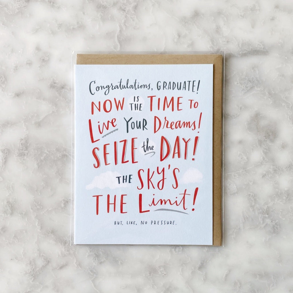 Graduation Card - Seize The Day!