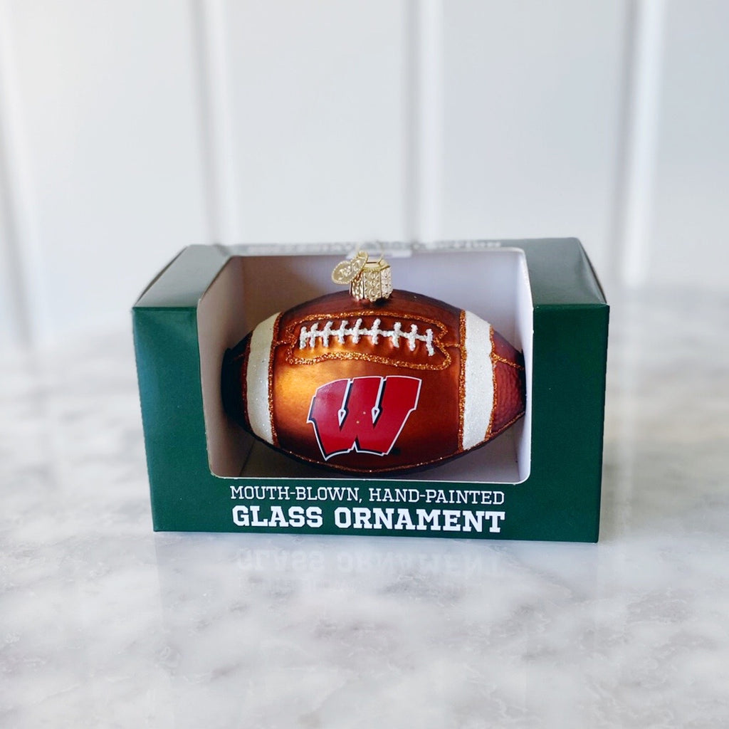 University of Wisconsin Madison - Football Glass Ornament