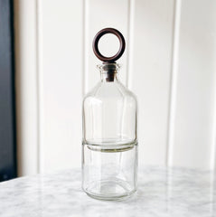 Stacked Glass Decanter Set