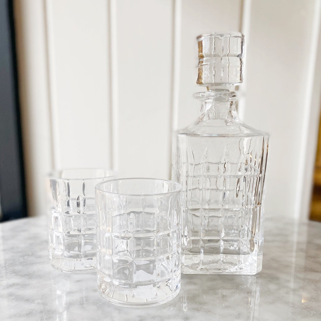 Newport Decanter 30oz + Glasses 15oz