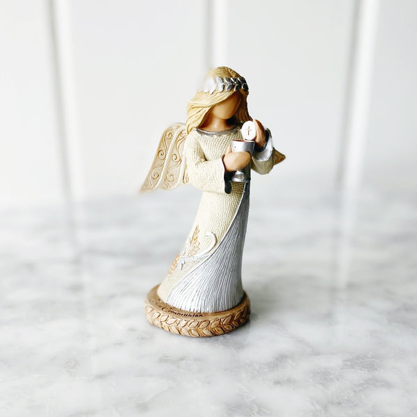 First Communion Angel Figurine - Natural Dress