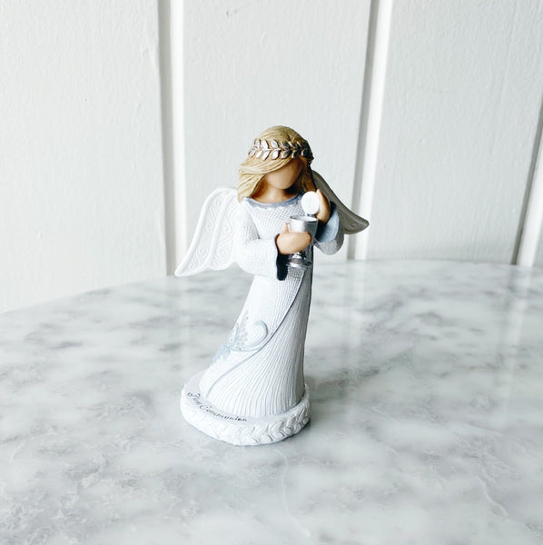 First Communion Angel Figurine - White Dress