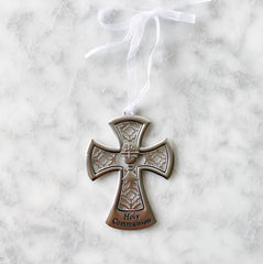 Metal First Communion Cross Ornament