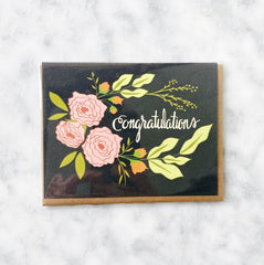Congratulations Floral Greeting Card