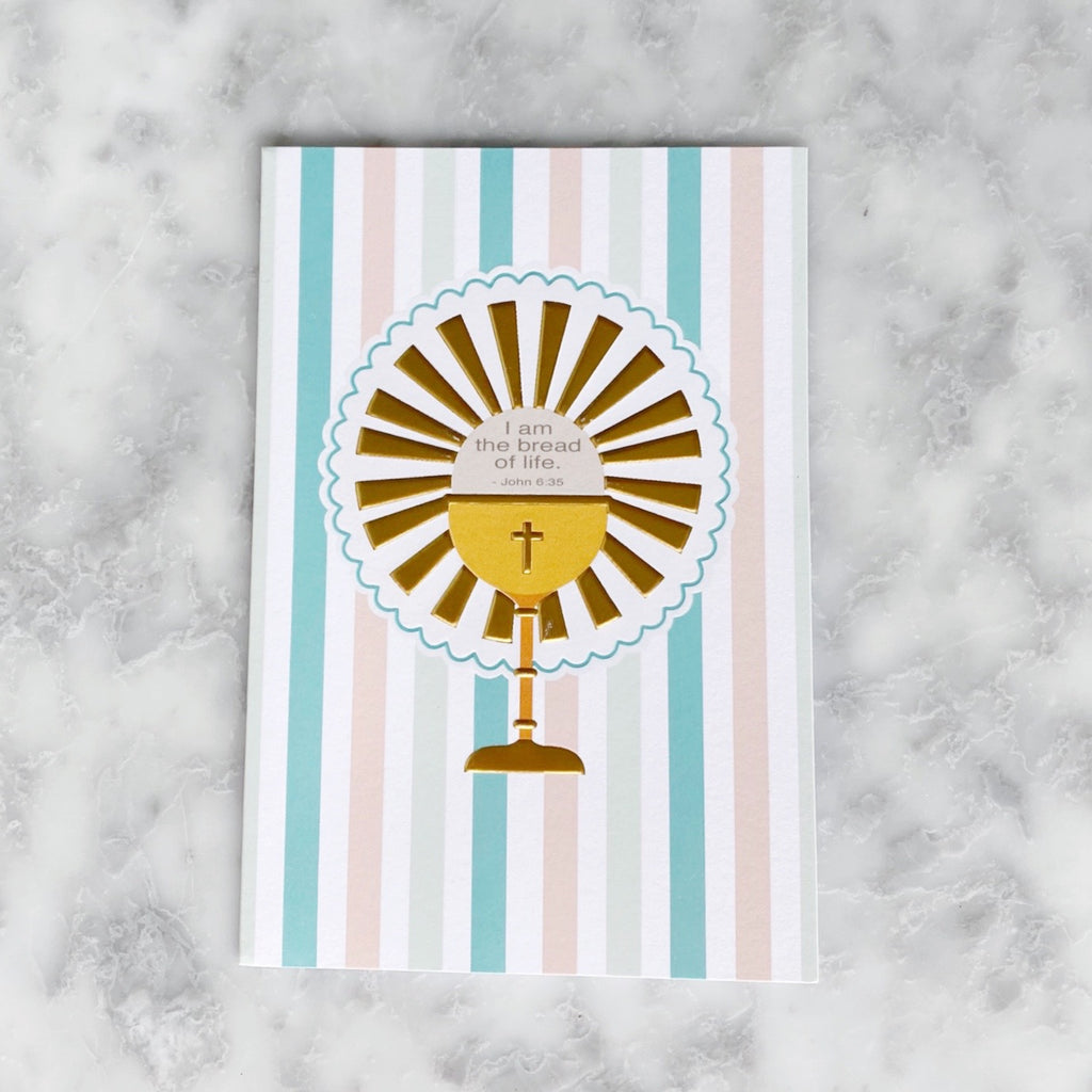 First Communion Host + Chalice Greeting Card