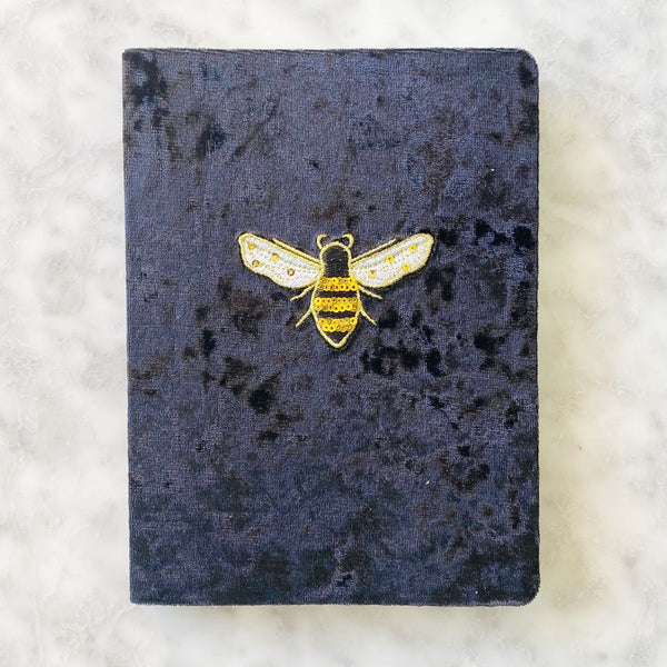 Bumble Bee Velvet Journal