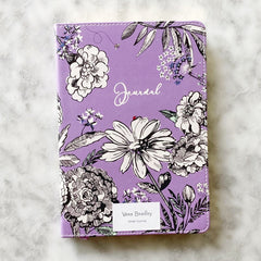 Vera Bradley Leatherette Journal - Lavender Meadow