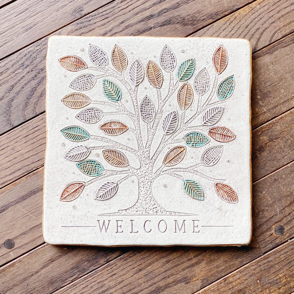 Welcome Tree Stone