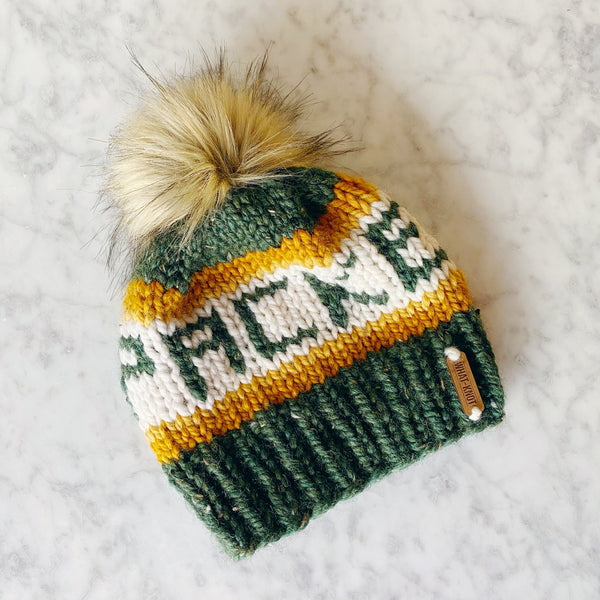 Knitted Packers Hat