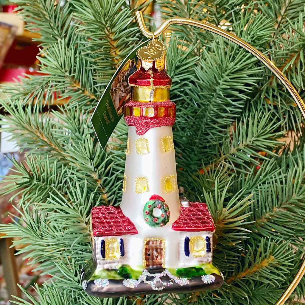 Old World Christmas Lighthouse Ornament