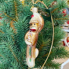 Old World Christmas Sock Monkey Ornament