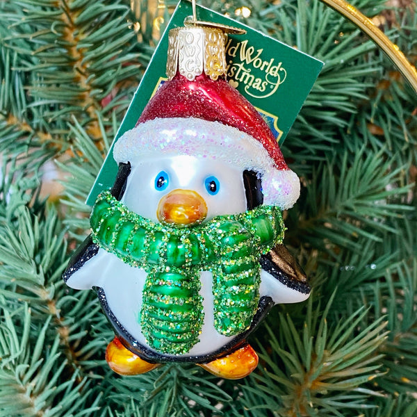 Old World Christmas Playful Penguin Ornament