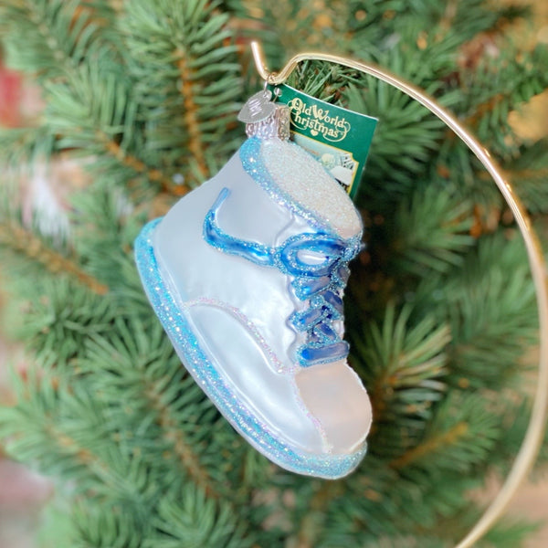 Old World Christmas Baby Shoe Ornament - Blue