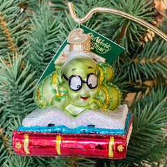 Old World Christmas Bookworm Ornament