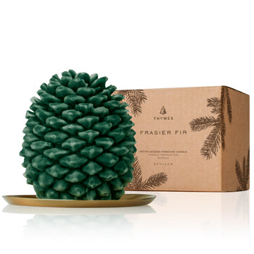 Thymes Frasier Fir Molded Pinecone Petite Candle