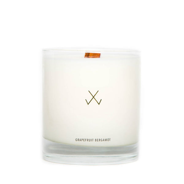 Simply Curated Grapefruit & Bergamot wood wick candle 9oz