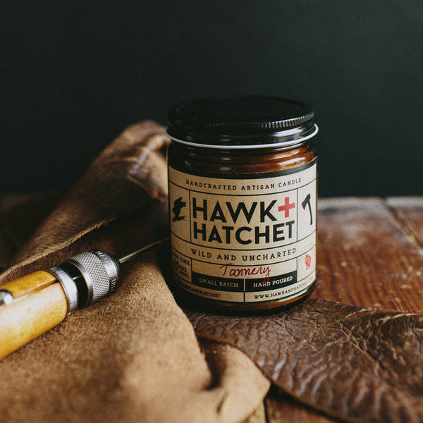 Hawk + Hatchet Jar Candle - Tannery
