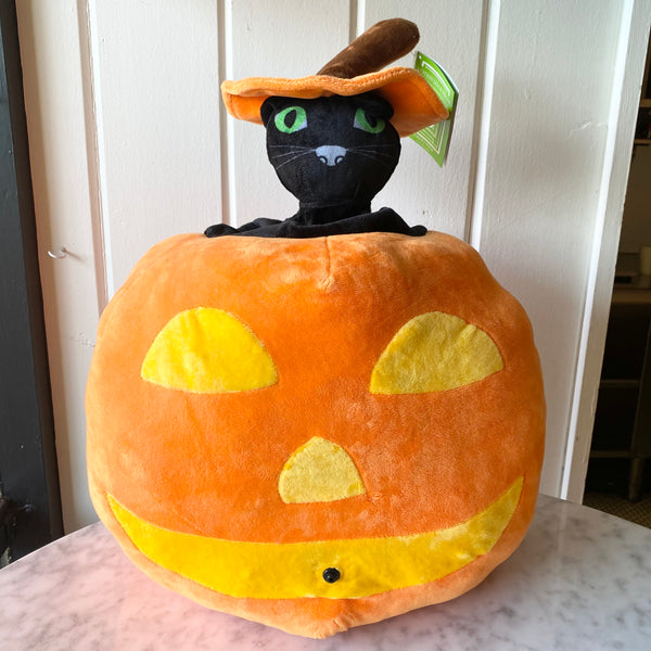 Jack-O-Lantern Cat Motion Decor