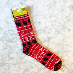 Wisconsin Printed Socks