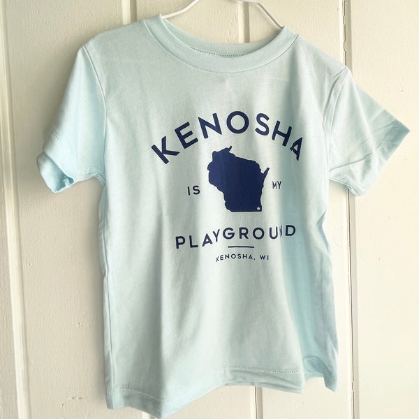Ice Blue Kenosha Is My Playground Tee