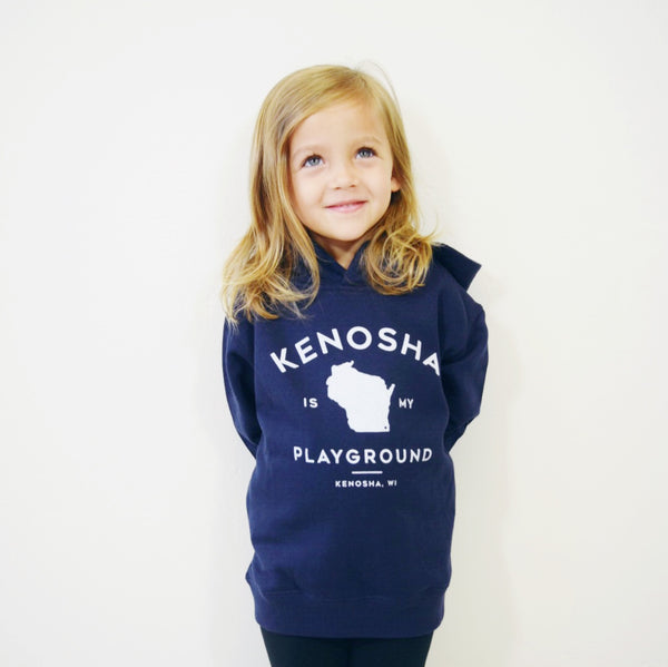 Kenosha Is My Playground Toddler Hoodie - Navy