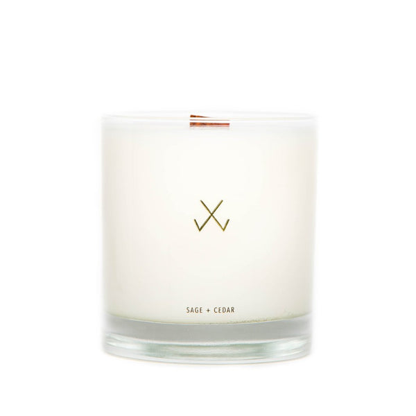 Simply Curated Sage & Cedar wood wick candle 9oz