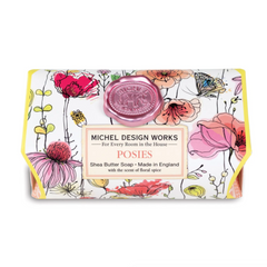 Michel Designs Posies Large Bar Soap