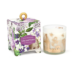 Michel Designs Lilac + Violets 6.5oz Candle