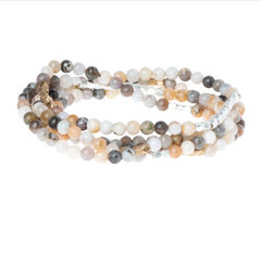 Wrap Bracelet/Necklace - Mexican Onyx - Stone of Confidence