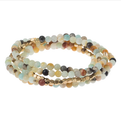 Wrap Bracelet/Necklace - Amazonite - Stone of Courage