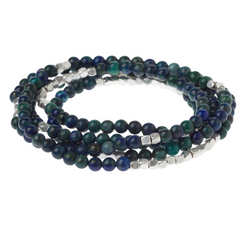 Wrap Bracelet/Necklace - Azurite - Stone of Heaven