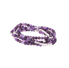 Wrap Bracelet/Necklace - Amethyst - Stone of Protection